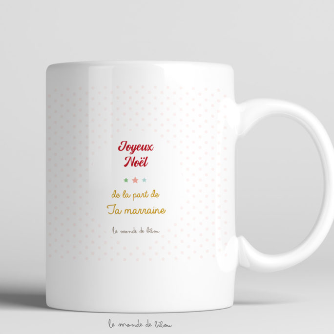 Tasse incassable Fillette Père Noël