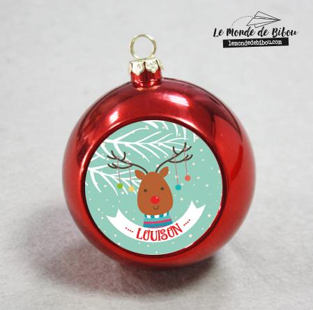 Boule de Noël Renne du Père Noël