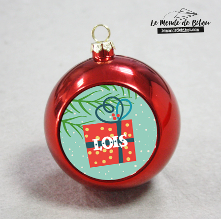 Boule de Noël Paquet Cadeau