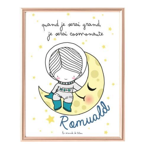 Affiche Prénom Cosmonaute
