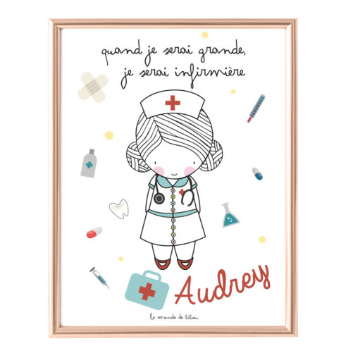 Affiche Prénom Infirmière