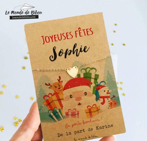 Carte bijou Joyeuses Fêtes