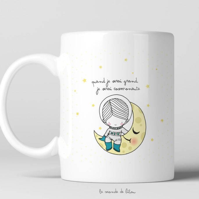 Tasse incassable Cosmonaute
