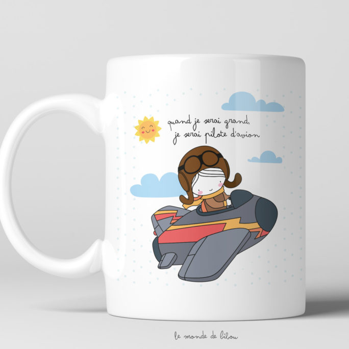 Tasse incassable Pilote d'avion