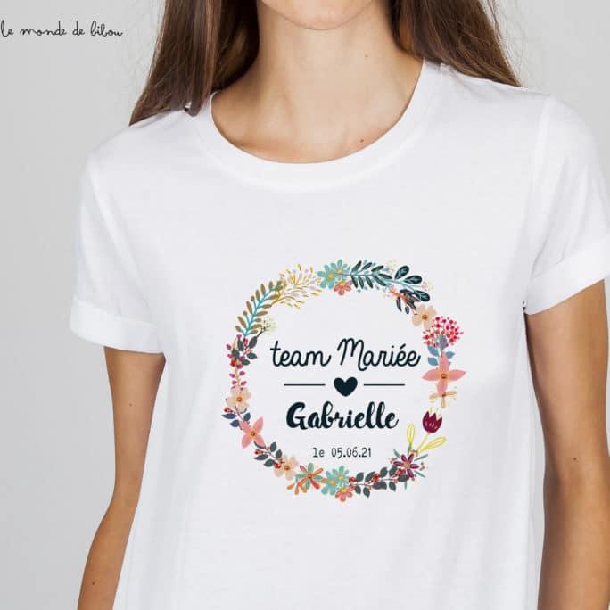 T-shirt EVJF Team de la mariée