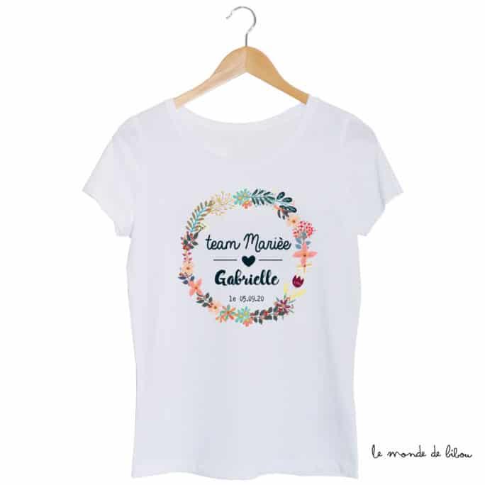 Tee-shirt EVJF Team de la mariée