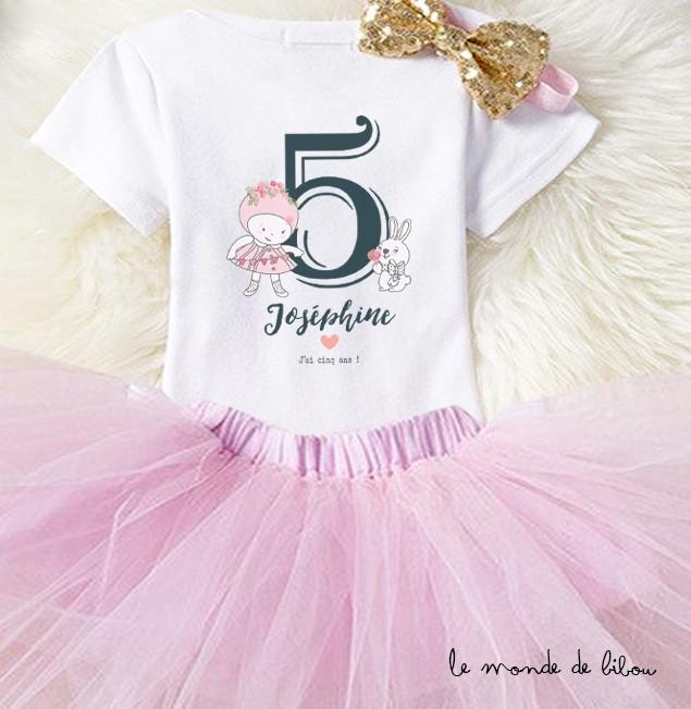 T-shirt anniversaire fille
