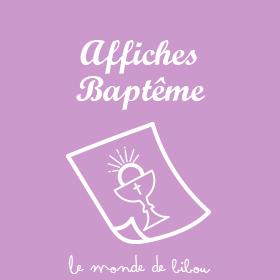 Affiches Baptême