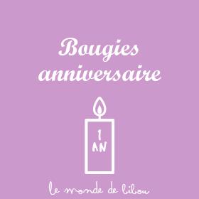 Les bougies personnalisées anniversaire