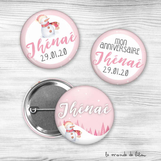 Lot de Badges Anniversaire fille