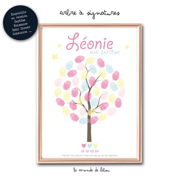 Affiche arbre à signatures Fille