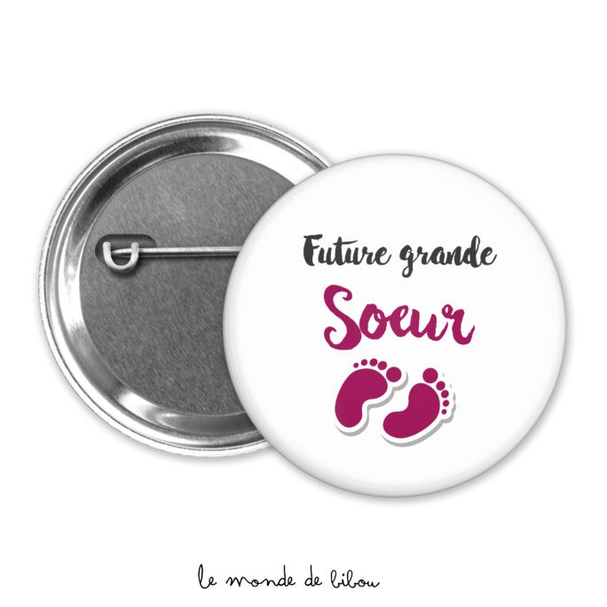 Badge future grande-sœur