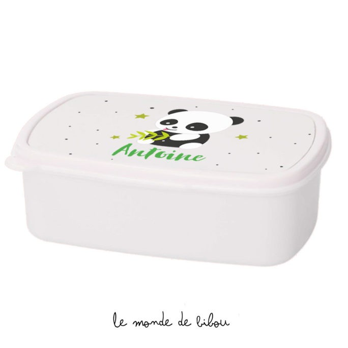 Boîte à Goûter personnalisée panda