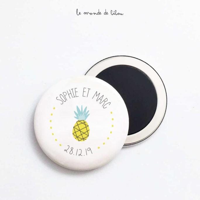 Magnet Mariage Ananas