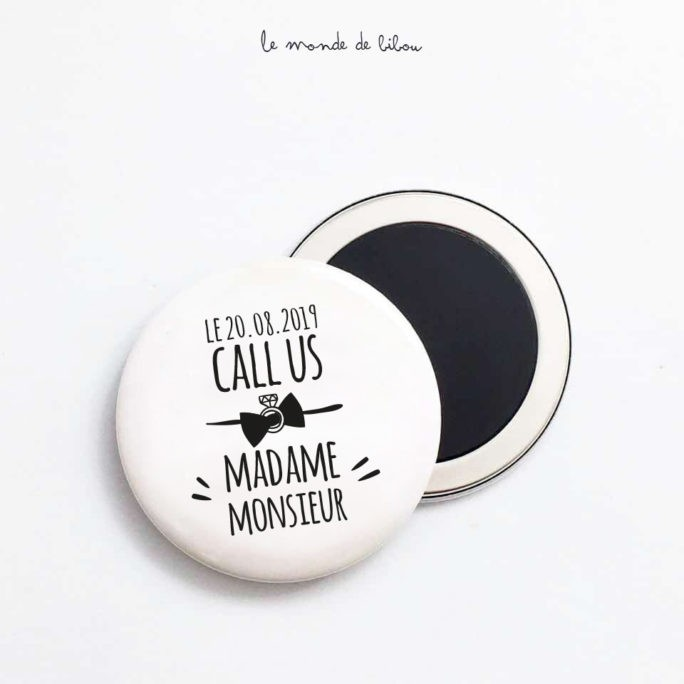 Magnet Mariage Call us Madame Monsieur