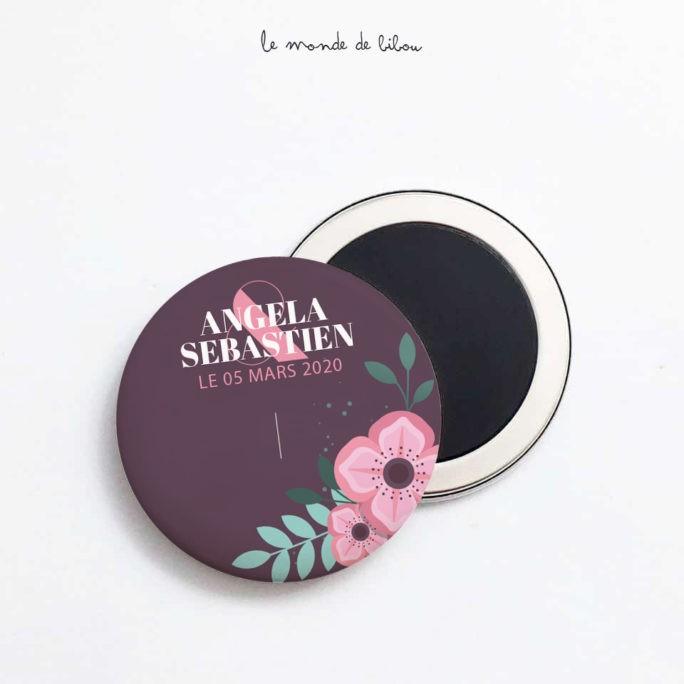 Magnet Mariage Fleurs vintage