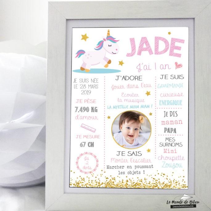 Affiche anniversaire Petite Licorne