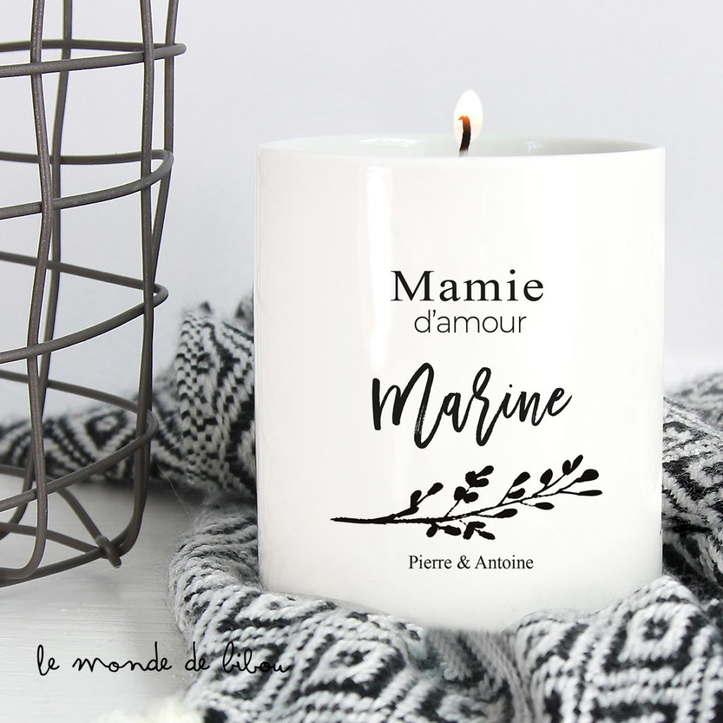 Bougie personnalisée Mamie d'amour