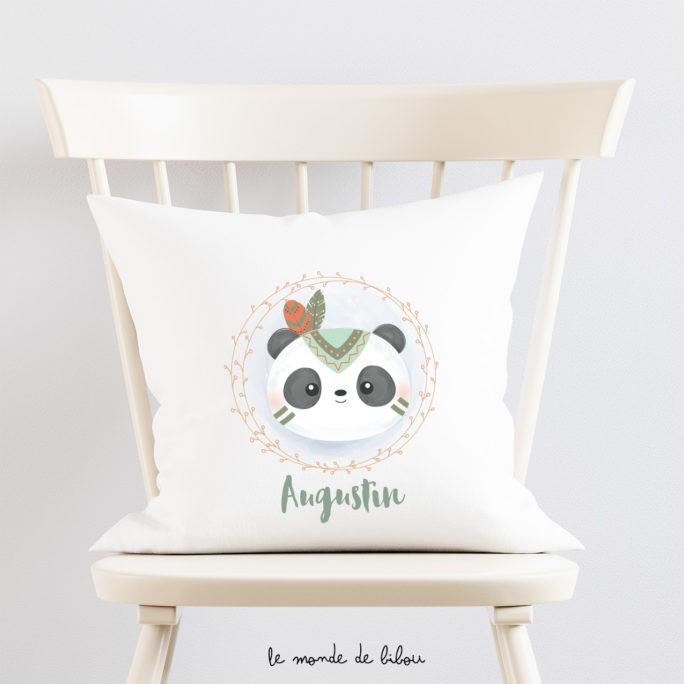 Coussin personnalisé panda