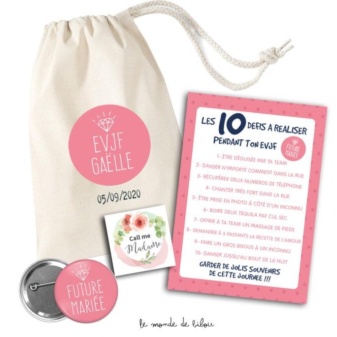 Kit cadeau personnalisé pour Future mariée
