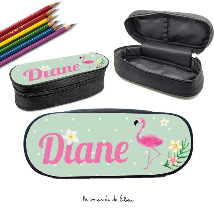 Trousse à crayons Flamand rose
