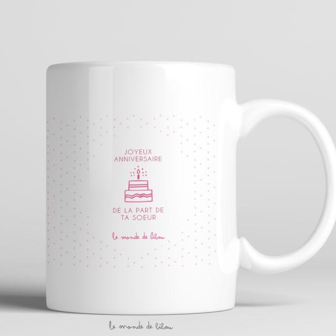 Mug Anniversaire Fleurs