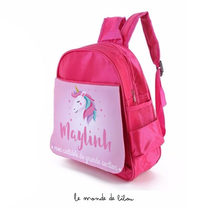 Cartable sac à dos Jolie Licorne