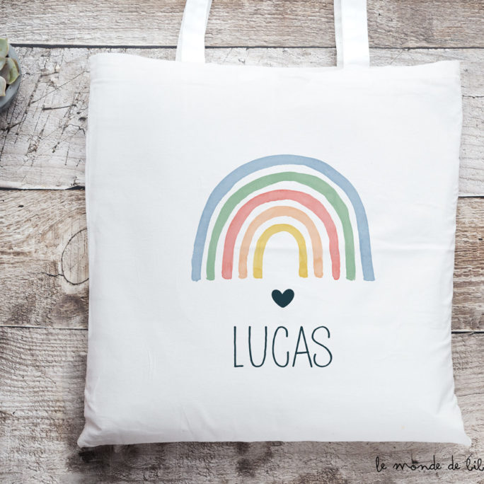 Tote bag Rainbow couleurs
