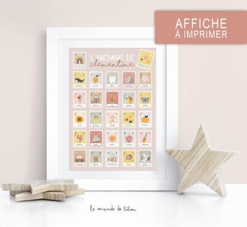 Affiche ABCDaire Bohémia à imprimer