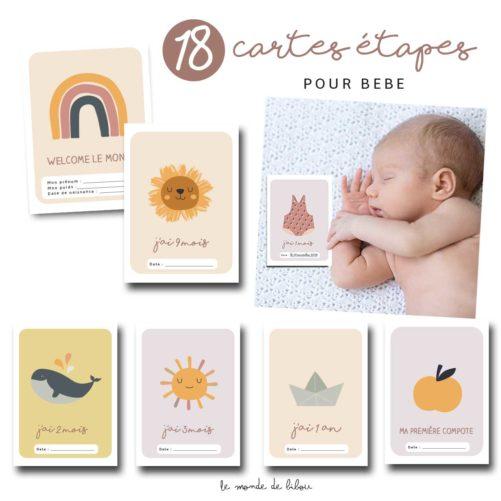 Cartes étapes bébé Bohémia
