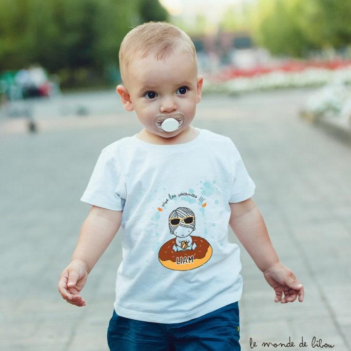 T-Shirt bébé bouée donut garçon