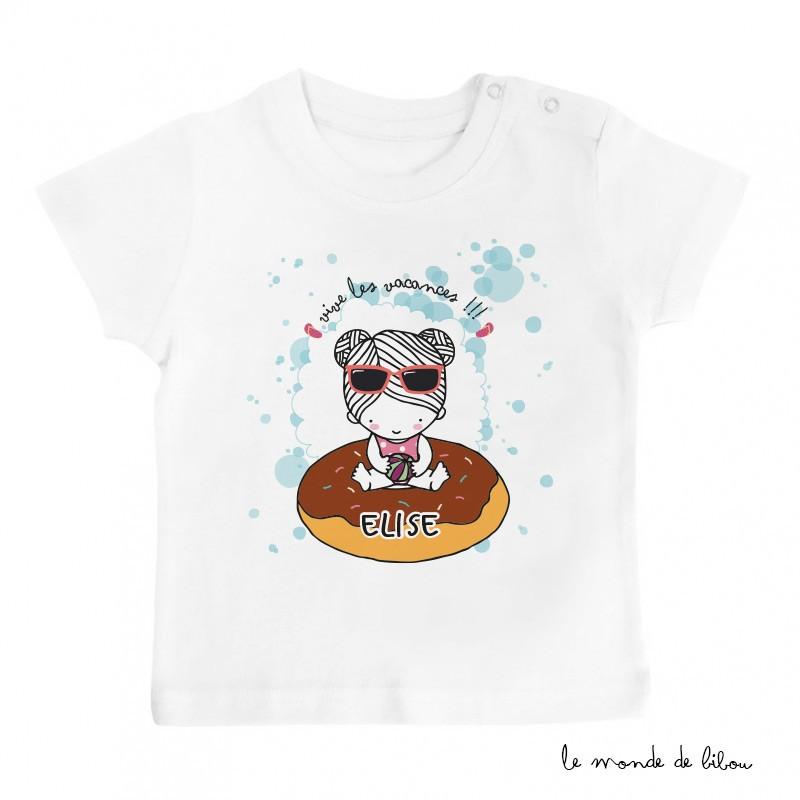 T-Shirt bébé bouée donut fille
