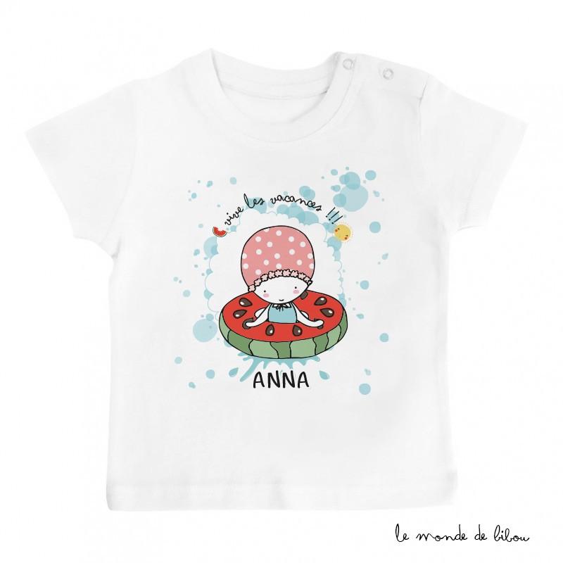 T-Shirt bébé bouée pastèque