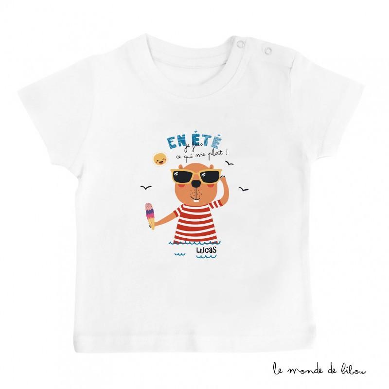 T-Shirt bébé Castor