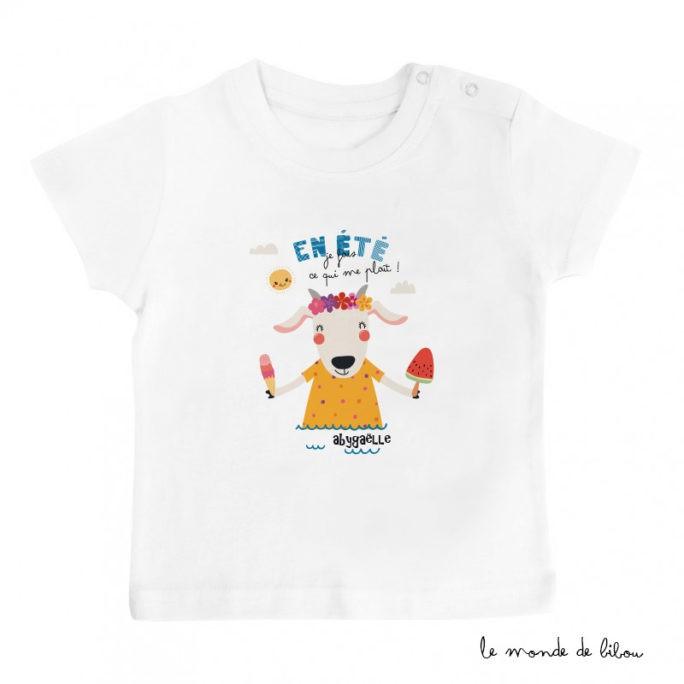 T-Shirt bébé Chèvre