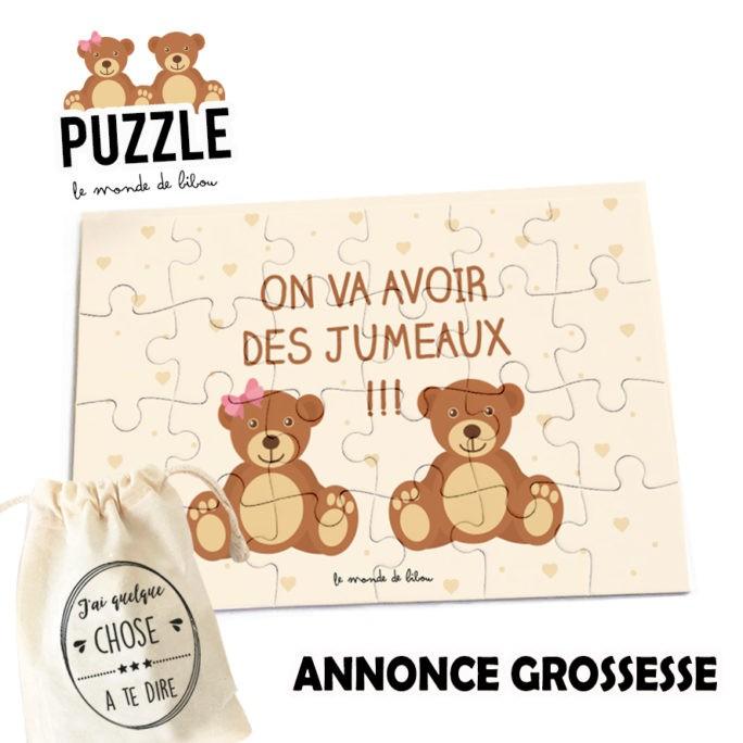 Puzzle annonce grossesse Jumeaux