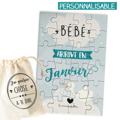 Puzzle personnalisable Bébé arrive