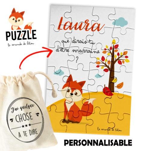 Puzzle demande Marraine Renard