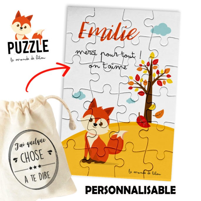 Puzzle Merci Petit renard