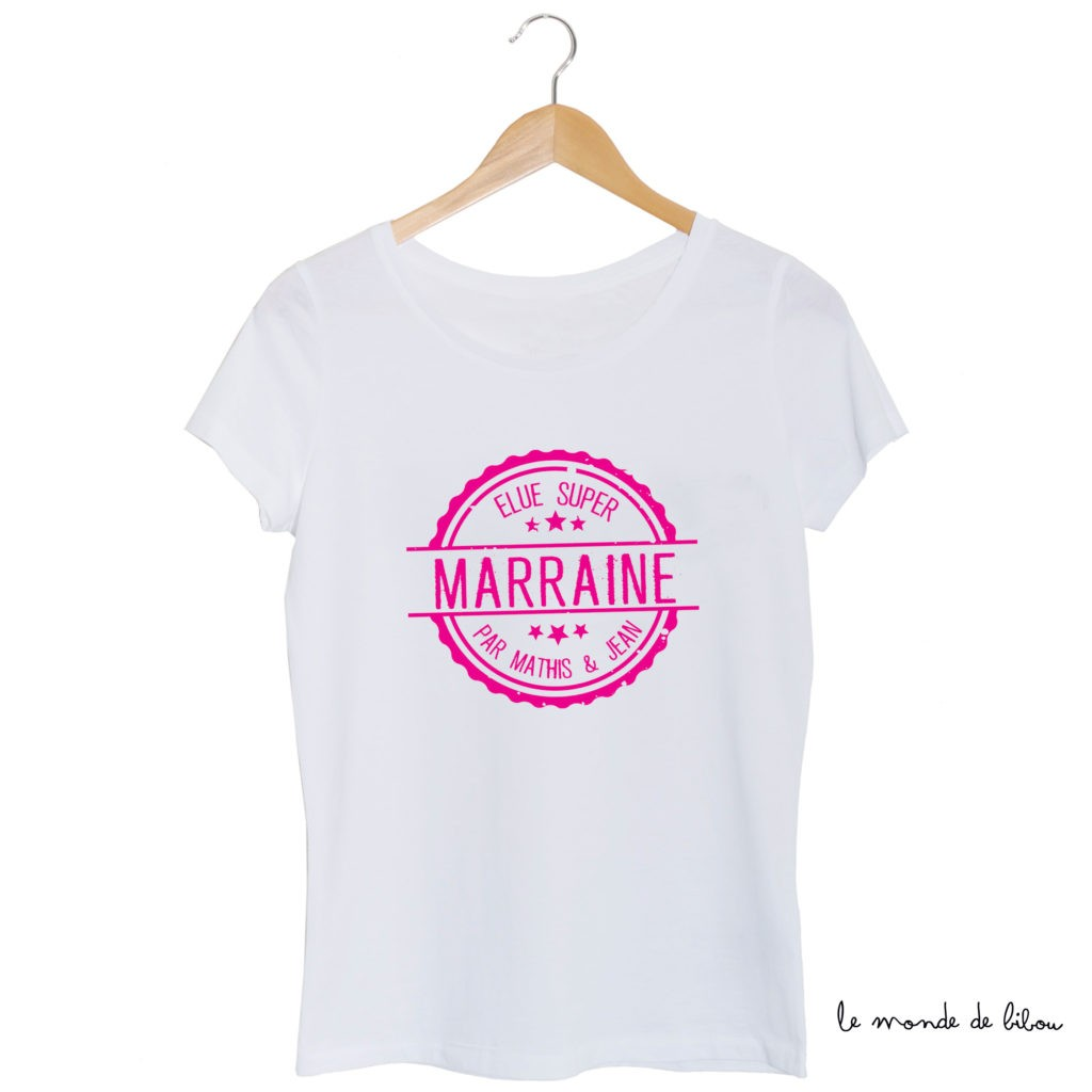 Tee-shirt Élue Super Marraine