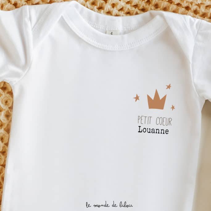 Body Petite couronne personnalisable