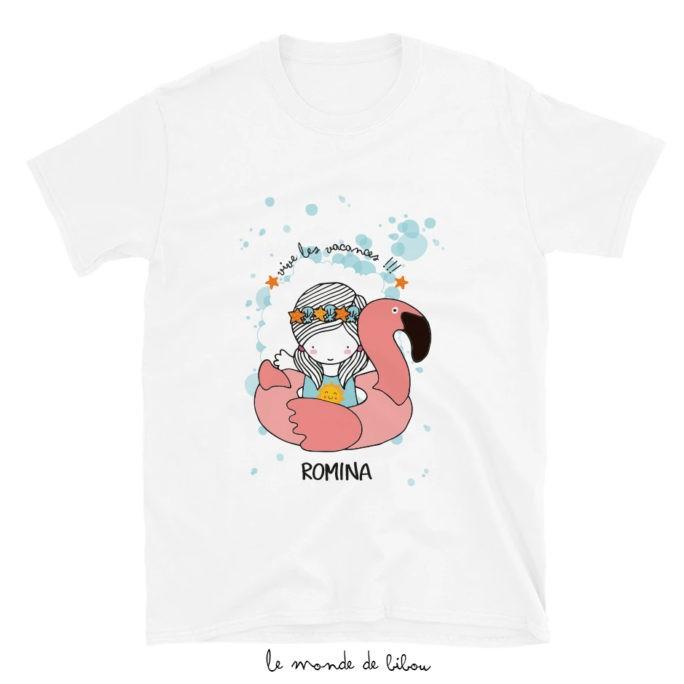 T-Shirt enfant Bouée Flamant rose