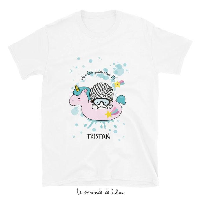 T-Shirt enfant Bouée Licorne garçon