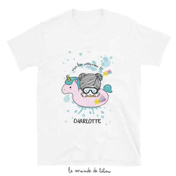 T-Shirt enfant Bouée Licorne fille