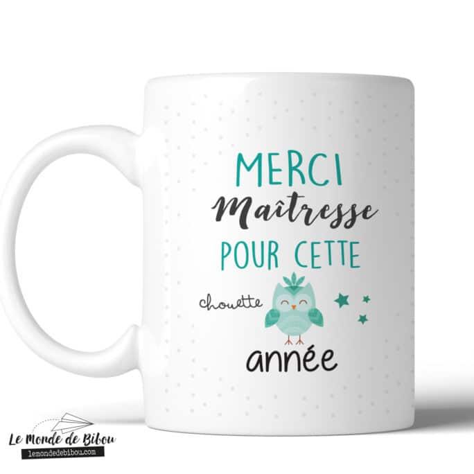 Mug remerciement Chouette Maîtresse