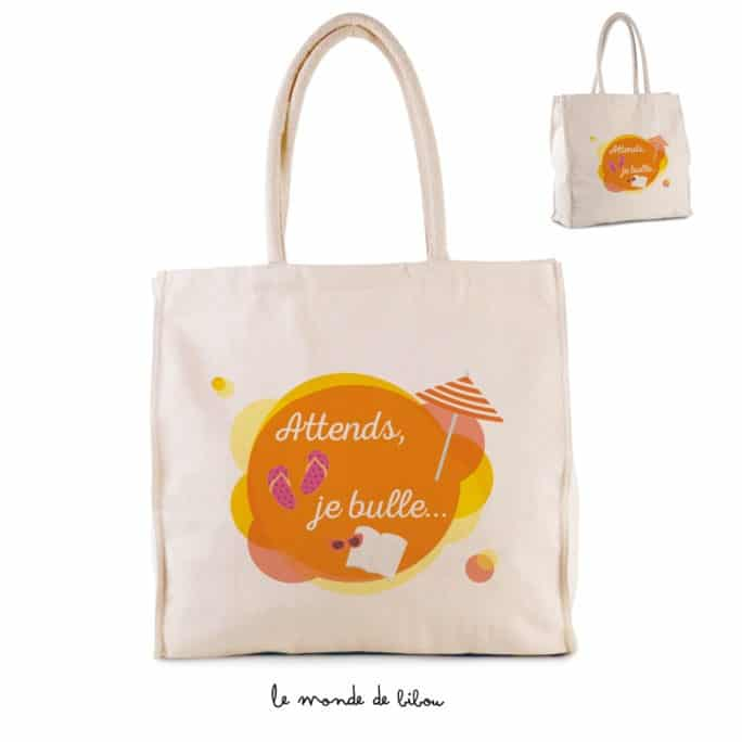 Sac cabas Attends je bulle