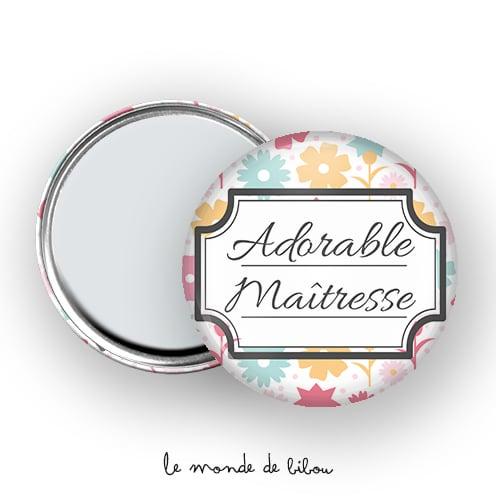 Miroir de poche Adorable Maîtresse