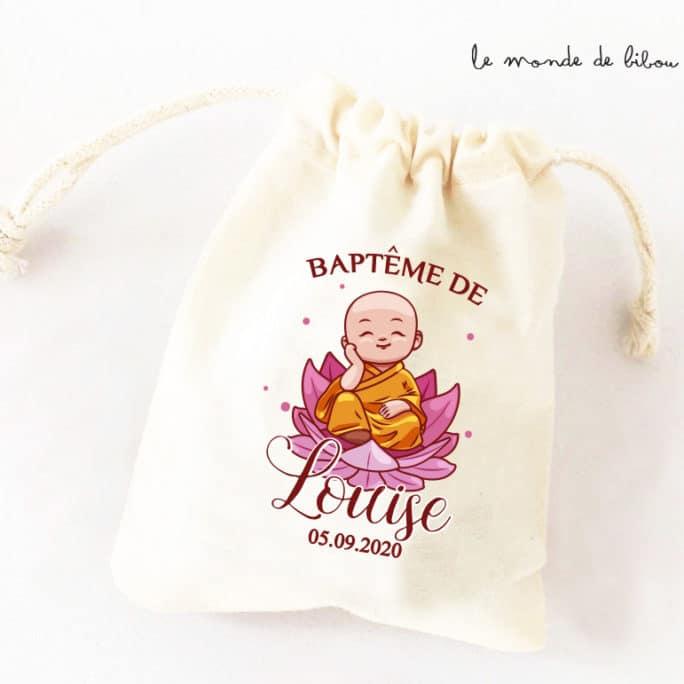 Sac à dragées personnalisé Buddha