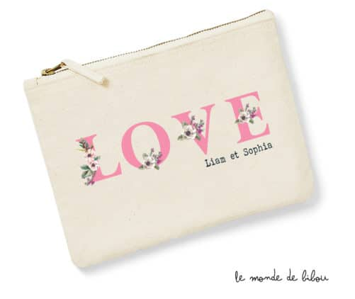 Pochette personnalisable Love