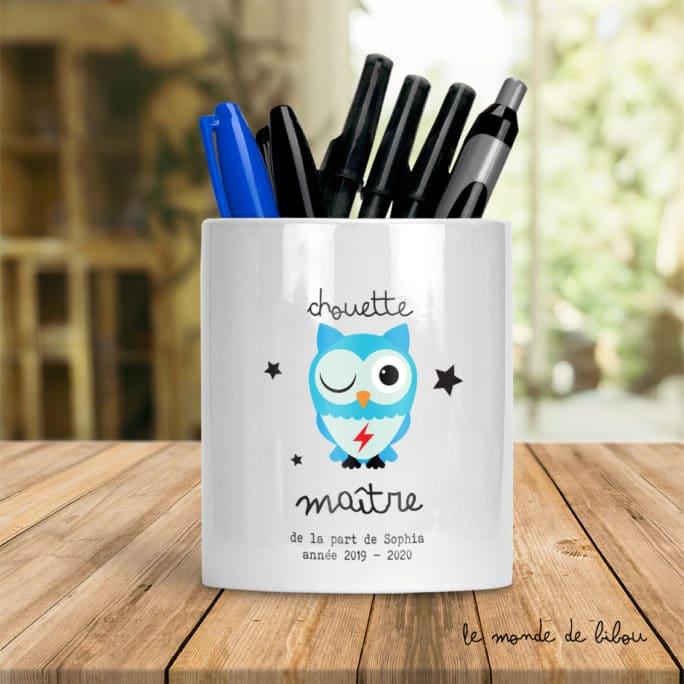 Pot à crayons Chouette Maître